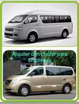 Alquiler de minivans con chófer para empresas