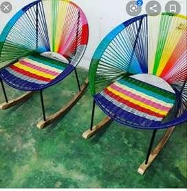 Venta y arreglo  de sillas mesedoras.tapizeria y pintura