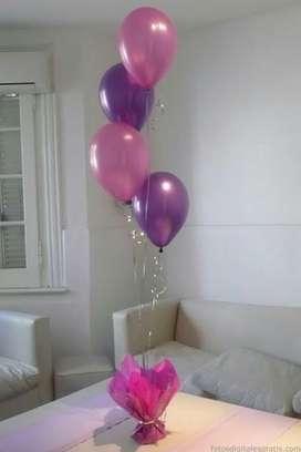 Helio, inflado de globos