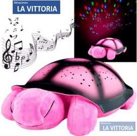 Lampara Musical Tortuga Varios Colores Proyecta Lunas y Estrellas