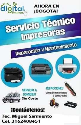 40.000 Servicio tecnico de impreseoras y Copiadoras A Domicilio