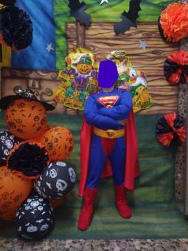 HERMOSO DISFRAZ DE SUPER MAN TALLA10