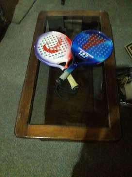 2 raquetas de padle