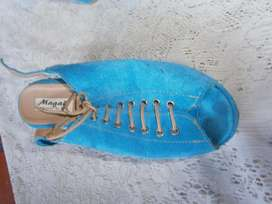 zapatos Magali turquesa