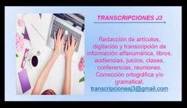 TRANSCRIPCIONES J3