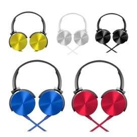 Auricular con micrófono Extra Bass 3.5 Azul Metalizado Para Celular