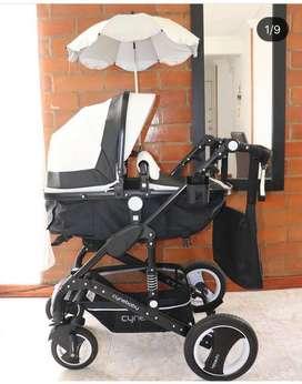 Se vende coche y silla para bebe! Marca Cynebaby / 6 meses de uso