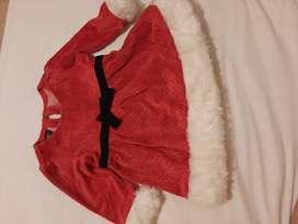 Disfraz de mama noel para niña de 12 a 18 meses