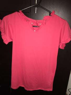 Camiseta fucsia tela suave
