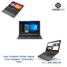 Asus Vivobook L203ma Laptop Ultra Delgada, Procesador Intel