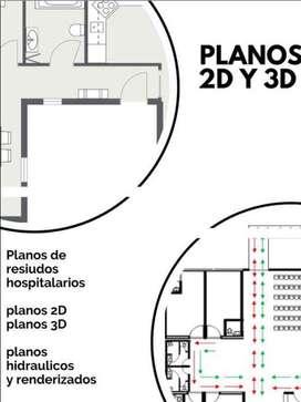 Planos 2D,3D y de casas