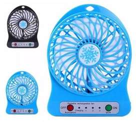 Mini Ventilador Portatil Recargable Linterna