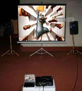 alquiler de proyector, ecram sonido