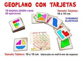 Geo plano con tarjetas