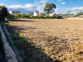 Se vende hermoso terreno y casa en Chaltura