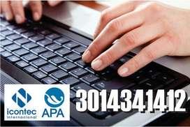 Normas APA, Icontec, artículos, monografías, todo tipo de redacción en todos los campos del conocimiento.