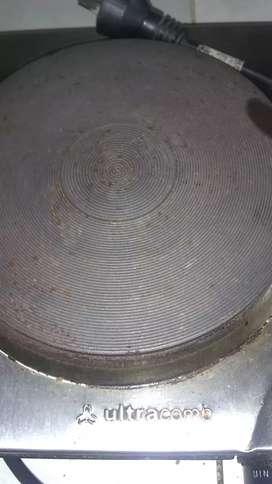 Cocina electrica de un calentador