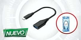 CABLE OTG USB A TIPO C 3.0 VELOCIDAD ¡DOMICILIO GRATIS BAJO COSTO!