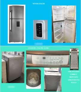 Nevera y lavadora Haceb de segunda