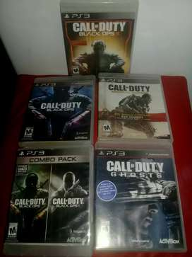 CALL OF DUTY PARA PLAY 3 X 5 JUEGOS
