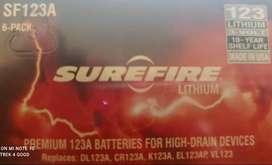 Baterías de litio SureFire 123ª Paquete de 6 unid