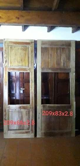 Puertas madera maciza para reciclar