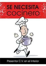 Se requiere cocinero con experiencia