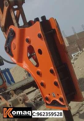 martillo hidraulico KOMAQ para CAT 420,CASE 580, John Deere 310