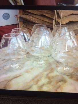 Copas de cognac de cristal