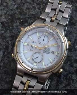 Reloj Citizen Ecodrive Titanium Completamente Nuevo 10/10