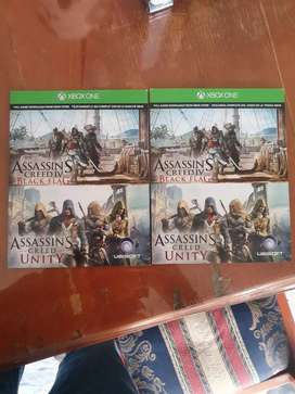 Assassin creed IV 4 y  Unity xbox one
