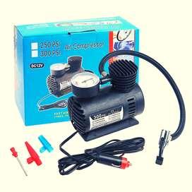 Mini compresor o inflador portatil para carro, auto, bicicleta