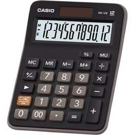 Calculadora Casio MX-12B 12 Dígitos Luz Solar