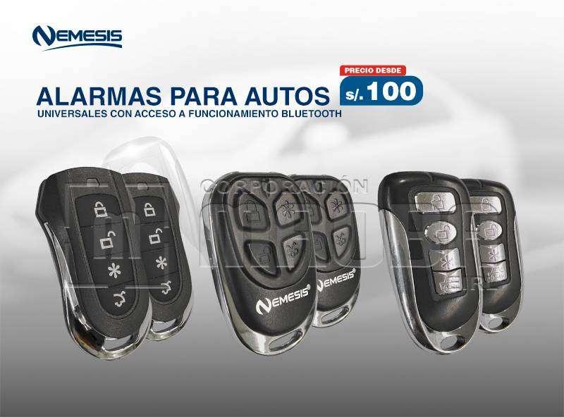 Alarmas Vehiculares - Con Acceso a la Tecnologia Bluetooh NEMESIS 0