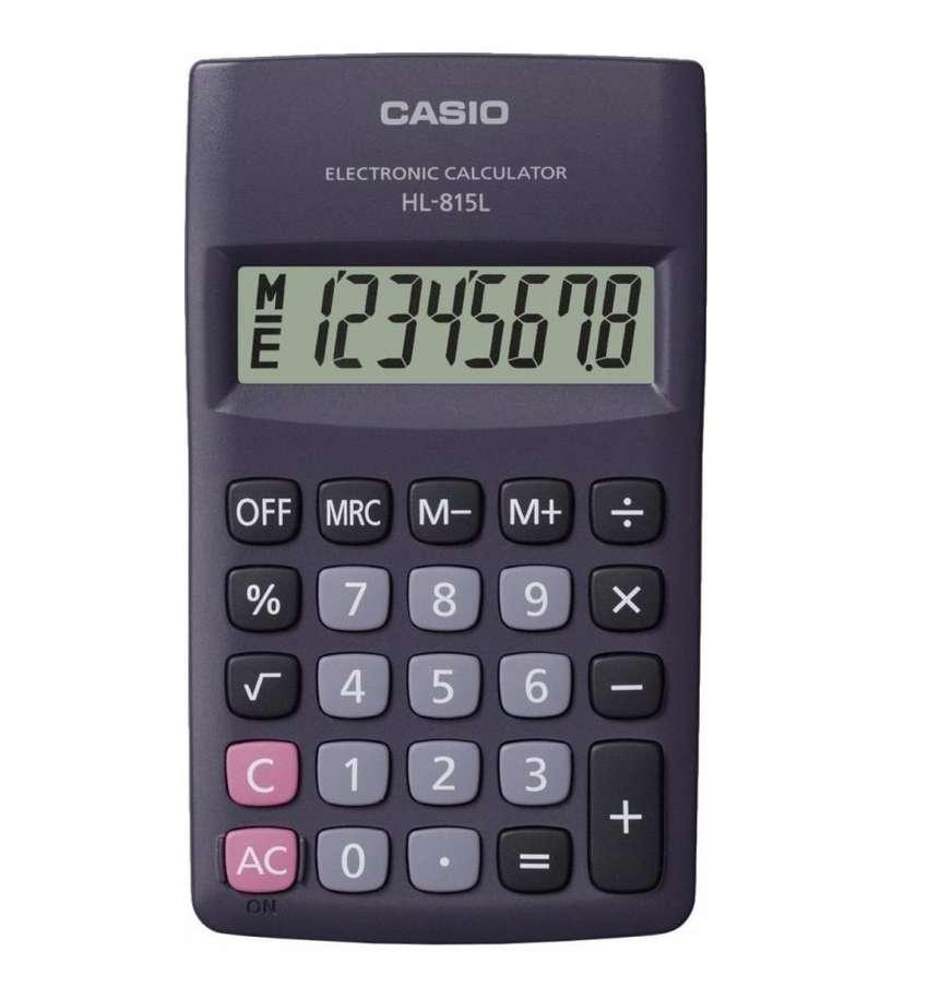 Calculadora de bolsillo CASIO de 8 dígitos HL 815L NUEVA 0