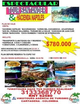 visita hacienda napoles y santander del 2 al 6 de enero 2020