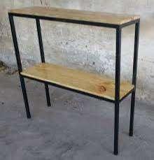 Fabricación de muebles en madera y acero