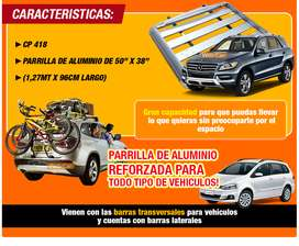Barras + Parrilla Porta Equipaje De Aluminio Alta Calidad