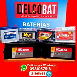 Baterias para autos a domicilio