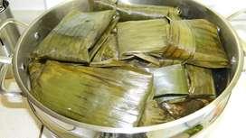 Se vende hayacas de arroz y tamales