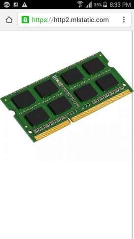Vendo Memoria Ram Ddr3 4g