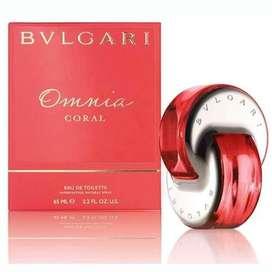 Perfume Omnia Coral de Bvlgari para Dama 65ml ORIGINAL