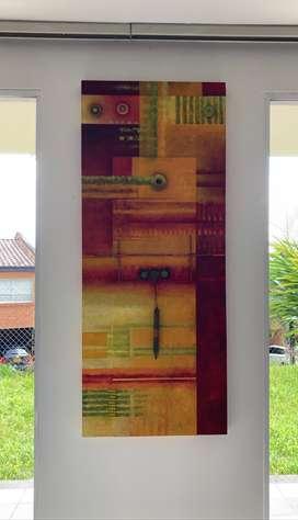 Pintura en óleo sobre madera y herrajes.