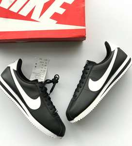 Tenis Nike Cortez Basic Leather  Black/white Talla 10.5 us,43 Colombia