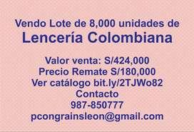 LENCERIA COLOMBIANA REMATO