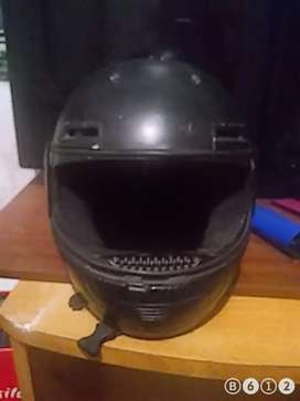 Casco moto negro