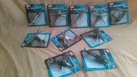 elicopteros colección de metal