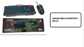 Combo Gamer Alámbrico Teclado 104 Teclas x1