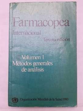 Farmacopea Internacional 3 edicion Volumen 1 Metodos generales de analisis Organización Mundial de la salud