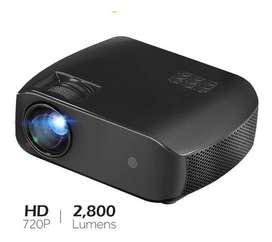 Mini Proyector Led F10 Hd 2800lm Hdmi Usb Hd 720p 1280x720